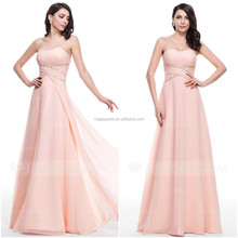 A-Line/Princess Sweetheart Floor-Length Chiffon Prom Evening Dress With Ruffle Beading Sequins