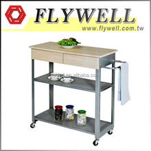 Metal Hotel Trolley Food Service Cart