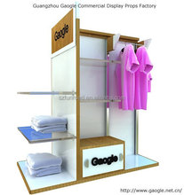 Contemporary fashion clothes exhibition LED display cabinet
