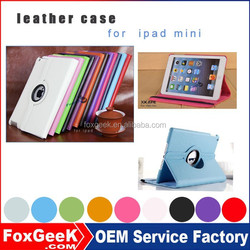 China suppliers Selling good quality tablets cases for mini ipad with 360 degree rotation function