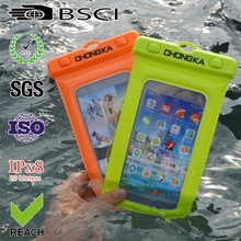 smart phone accessory pvc waterproof bag case cell phone