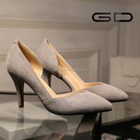 Elegent fashion ladies pointed toe high heel slingbacks women footwear