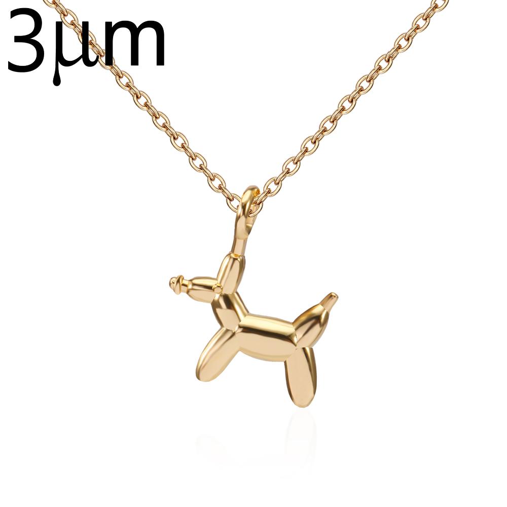 2018 nouvelles inventions bijoux de mode colliers pendentif collier en laiton animal minuscule ballon chien collier