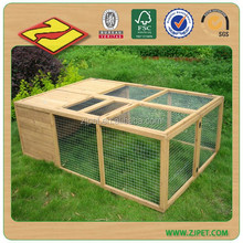 farming plastic welded wooden wire mesh rabbit cage