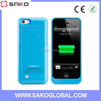 2015 HOT 2200mah Plastic ABS Slim Protective Portable Extended charger case Backup, cover charger case for iphone 5 5C 5S