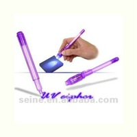 Purple Invisible UV Pen toy for promotion or banknote detecter