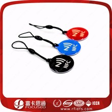 CKMY printing sharp RFID plastic key rings Fobs tag