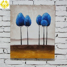 Trees in the desert on canvas white wall decor oil painting