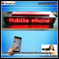 "CE RoHS P7.62-7x80R (25.7"" Lx3.8"" Hx1.3"" D ) Semi-outdoor GSM(SMS)+ USB led moving message display sign panels"