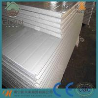 Chinese cheap building material polyurethane foam with both steel sheets