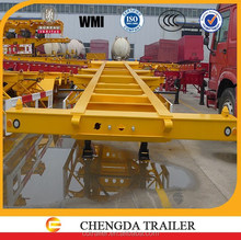 tri-axle skeleton semi trailer easy structure frame semi trailer for container using