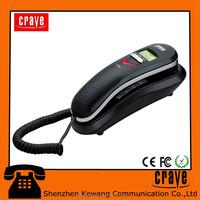 slim landline corded caller id phone slim telephone wall mounted phone