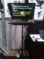 30% off!!! TF-17 17 inch Foldable Studio Teleprompter
