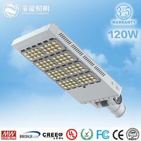 5years warranty ip66 waterproof outdoor motion sensor 120w cree led street light