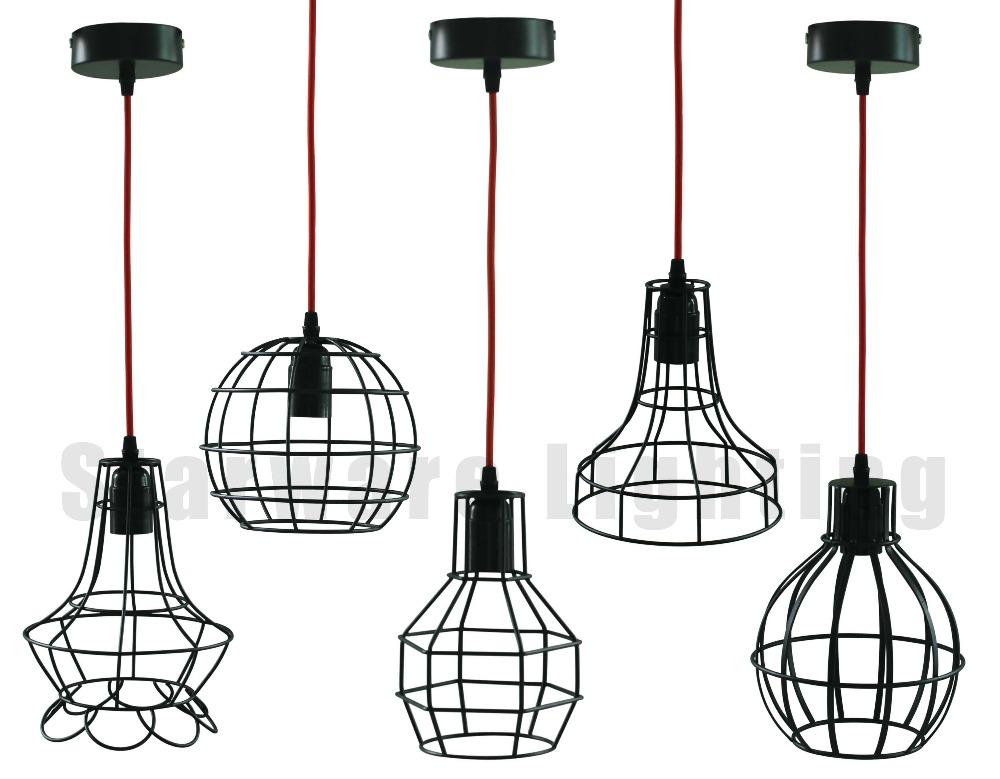 e27 retro  vintage edison bulbs industrial iron  wire metal