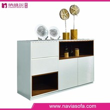 Simple and fashion design White high glossy MDF multi drawer cabinet wooden drawer cabinet