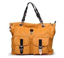 PU leather vintage ladies' handbag