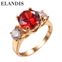 Wholesale fashion Jewelry Pink Zircon Gold Plated gold Ring