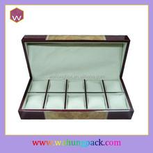 Cheap unique wooden wrist watch storage box (WH-0155-SL)