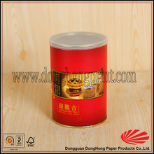 Column packaging tin box for tea packaging with plastic lid