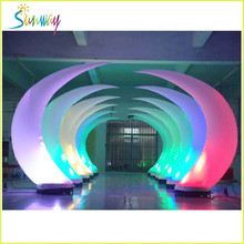 adverstising ivory shap change color popular for good show Commercial LED inflatable