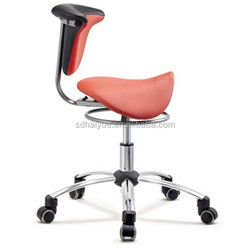 New Red Upholstered Saddle Leather Chair, Saddle Back Chair, Ergonomic Industrial Chairs