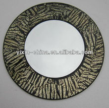 Round Frame Zebra Mosaic Mirror
