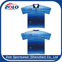 Cheap Custom Men's Sublimation 100% Microfiber Polyeste Polo Sport Clothing With Pockets