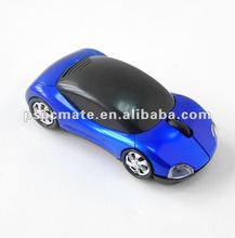 Royal blule PC car shaped 2.4g wireless mouse for computer use