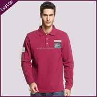 China supplier long sleeves polo shirt clothing