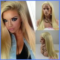 Wigs for White women 613 Brazilian virgin hair full lace wigs straight blonde hair