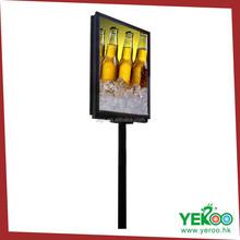 Solar street pole advertisement lighting display