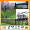 Tubular steel powder coated ornamental wrought iron fence ( ISO factory )