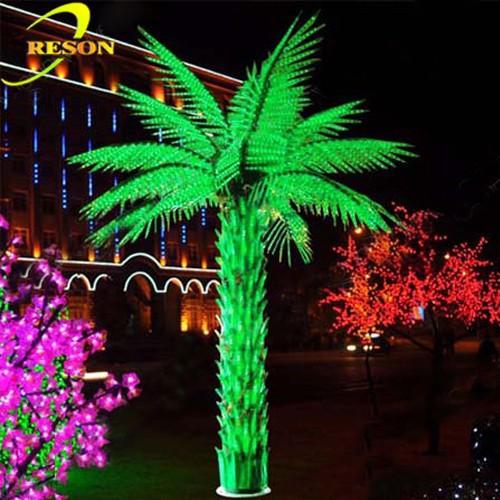 Landscape Lighting For Palm Trees : Garden decor led outdoor landscape light up palm tree