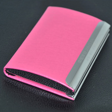 2015 Luxury Business PU Leather ID Credit Place Card Holders/Business card case/name card holder- ST127-P