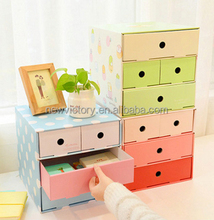 Paper small jewelry box drawer handles