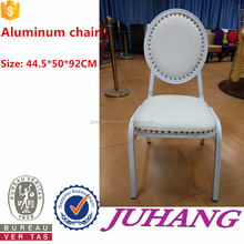 strong restaurant wedding white leather round back dining chairs