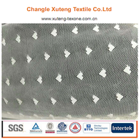 Popular Heart Design Mesh Fabric Fancy Knitted Warp Net Nylon Polyester Embroidery Tulle Spool Fabric for Decoration