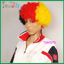 Carnival Colorful synthetic hair wigs for Football Fan
