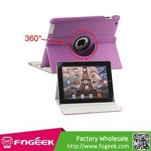 Fast Shipping 360 Degree Rotating for iPad 2 3 4 Magnetic Leather Case Cover with Stand