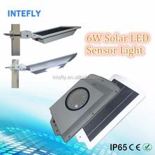 2015 new product 5w, 6w solar motion sensor security light