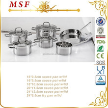 Europe style spare parts stainless steel pan & pot stainless cookware