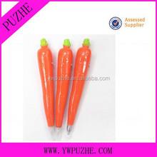 vegetable shape promotional ballpoint pen/carrot pen
