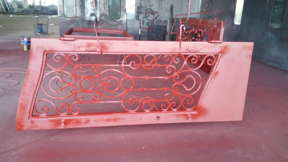 Double isolant en verre en fer forg entr e porte portes id de produit 60522364815 french for Porte en verre et fer forge