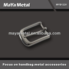 Customized black zinc alloy metal pin leather belt buckle