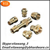 2015 hot-selling high precision lathe machine parts knurled brass lock nuts ISO9001/RoHS