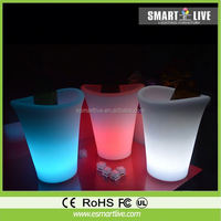 carlsberg plastic led ice bucket/Acrylic beer ice bucket wholesale