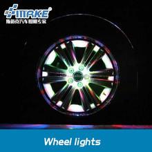 car stying led wheel light with vibration sensor and light sensor, power by solar energy, seven colour change