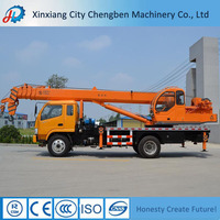 Construction/High Building/Warehouse Used Truck with 6 Ton Jib Crane