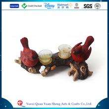 Polyresin Angel cristal vela navidad, boda decorativo Glass Candle holder, Polyresin pájaro cristal sostenedor de animales